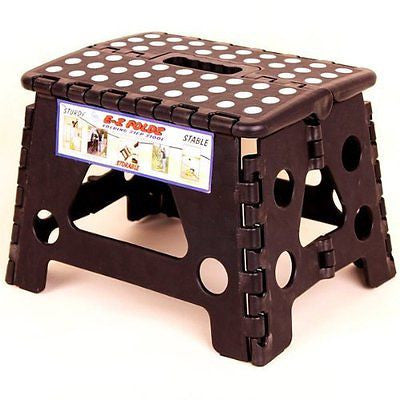 Black Ez Foldz Step Stool / Bench, 9'' High -Affordable Gift for your Loved One