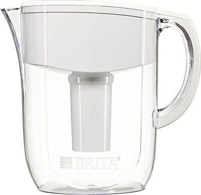 10 Cup Everyday BPA Free Water Pitcher with 1 Filter, White