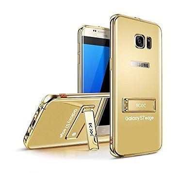 Samsung Galaxy S7 Edge Case Cover,TYoung(TM) [Mirror] Case Metal Frame Soft PC