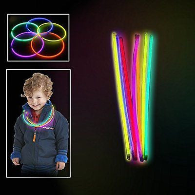 Toy Cubby Extreme Bright Non-Toxic Glowing Colorful Sticks 100/pack