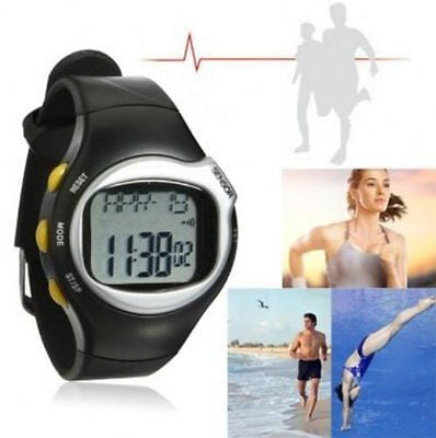 Pulse Heart Rate Monitor Calories Counter Fitness Wrist Watch by STCorps7