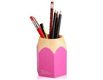 Wisedeal Creative Pencil Tip Design Pen Holder (Pink) (1, Pink)