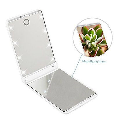 Makeup Mirror, Yukiss? 2x magnifying makeup mirror with 8 dimmable Led Lights