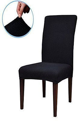 Subrtex Jacquard Stretch Dining Room Chair Slipcovers (4  Jacquard)