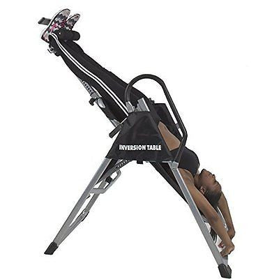 Inversion Table Pro Deluxe Fitness Chiropractic Table Exercise Back Reflexology