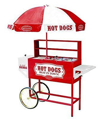 Nostalgia HDC701 48-Inch Tall Vintage Collection Hot Dog Vending Cart