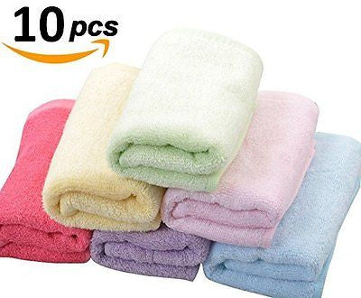Moolecole 10-pack Bamboo Fiber Baby Washcloths & Wipes