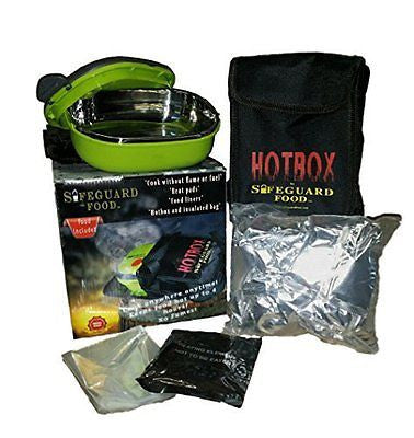 Safeguard Aqua Hot Box Flameless Cooker With 72 Hour Emergency Food No GMO