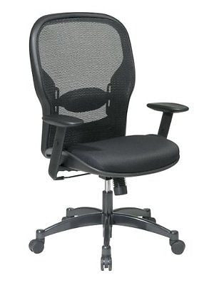 Seating Breathable Mesh Black Back Padded Mesh Seat Adjustable Arms Lumbar