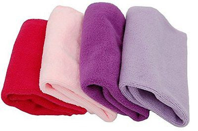 "Plush Microfiber Towels/Washcloths Ultra Soft Thick 12"" x 12"" size 4-Pack"