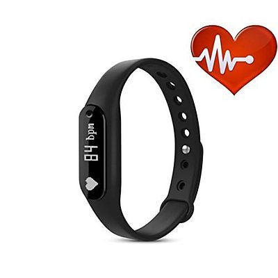 Sport Heart Bracelet Fitness Tracker Bluetooth Touch Screen Waterproof Smart