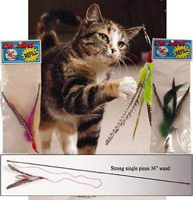Da Bird Value Pack (1 Da Bird Original Single 3 Foot Pole Cat Toy