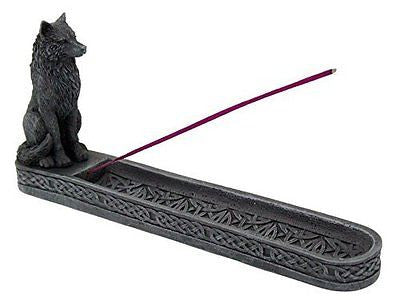 10 Inch Werewolf Gargoyle Resin Incense Burner Statue Figurine