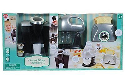 PlayGo Pretend Play Gourmet Kitchen Appliance Set-Single Serve Coffee Maker
