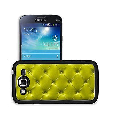 Luxlady Premium Samsung Galaxy Mega 5.8 Aluminium Snap Case yellow sofa leather