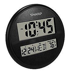 Sharp(R) Wall And Table Clock, 9in., Black