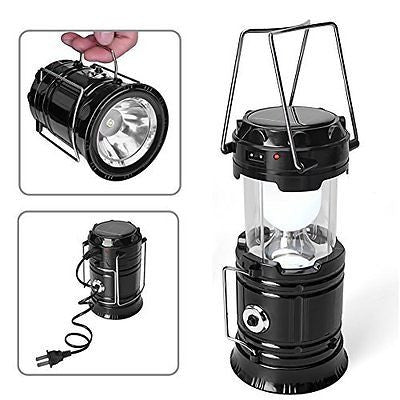 Upmall Camping Lantern,Solar Rechargeable LED Tent Light & Handheld Flashlight