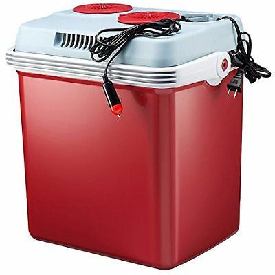 Knox 34 Quart Electric Cooler/Warmer with Dual Home and Car Power Cords (Red)
