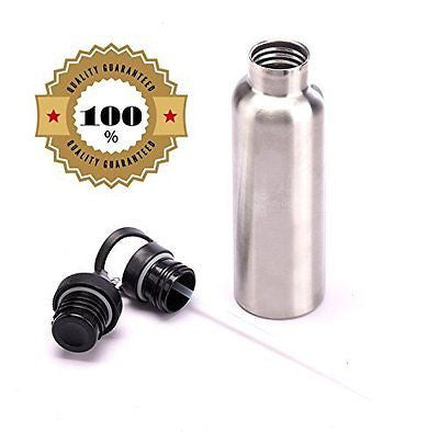 Stainless Steel Water Bottle 20 Oz Vacuum Insulated with Interchangeable Sports