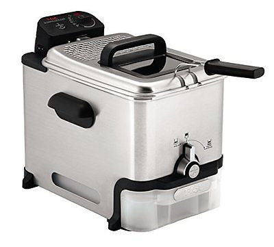 T-fal Oil Filtration Ultimate Fry Basket Stainless Steel Immersion Deep Fryer