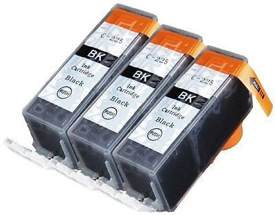 3 Pack Compatible Canon PGI-225 3 Big Black for use Canon PIXMA iP4820 PIXMA