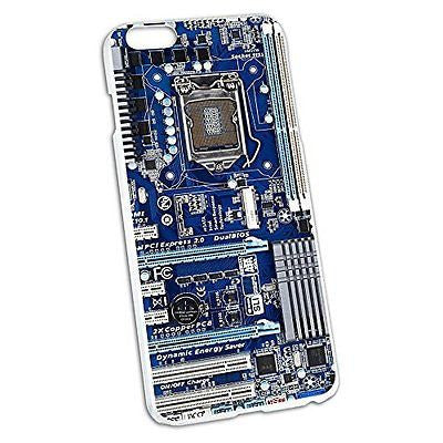 Blue Computer Motherboard - Processor CPU Memory Snap On Hard Protective Case