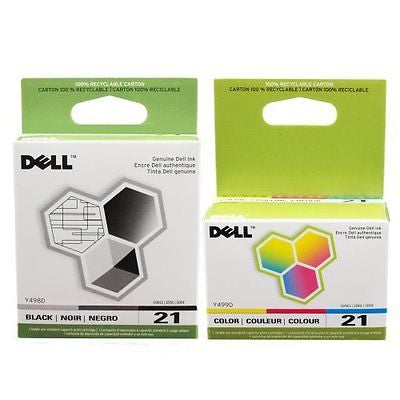 Series 21 Printer Ink Cartridge 2-Pack for Dell All-In-One printers P513w P713w