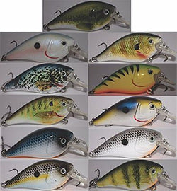 11 Squarebill Crankbaits from RAW Outdoors Inc 2.7inches long