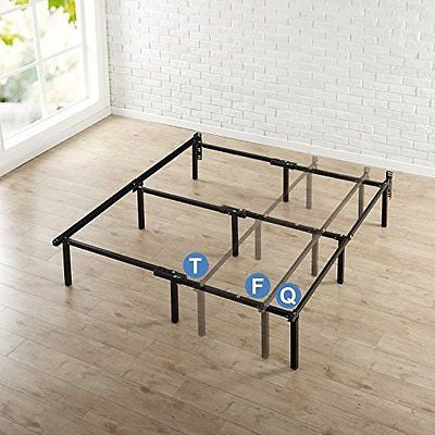12 Inch Compack Bed Frame for Box Spring & Mattress Sets Twin/Full/Queen