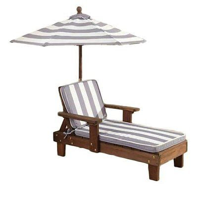 KidKraft Chaise Lounger Gray & White Outdoor Furniture