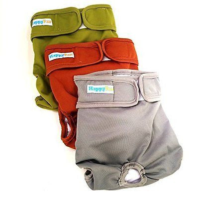 Reusable Washable Dog Diapers (3 Pack) - Durable Dog Wraps for both Male and Fem