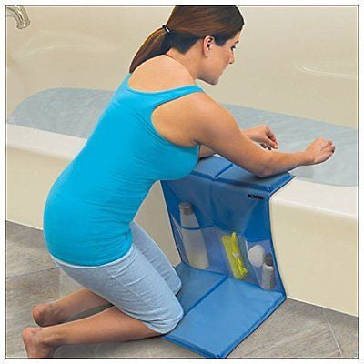 Bathtub Caddy with Kneeling Pad - Elbow Rests - Pockets