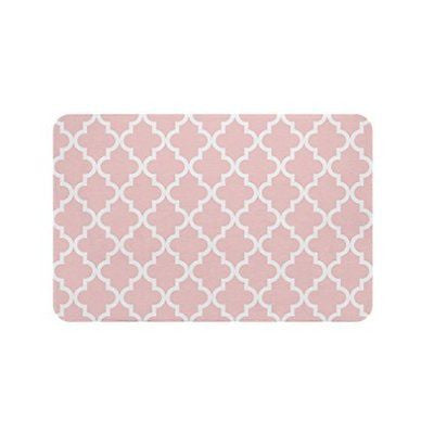 Gillham Studios Scalloped Durable Microfiber Foam Bath Rug (24x17 inch) Small