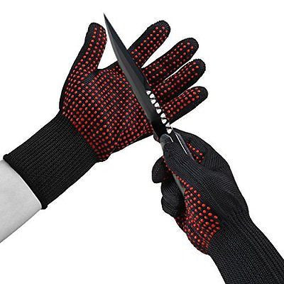 Vicsou Multi-Purpose 4 in 1 BBQ Grill Glove Slip-Resistant Fireproof