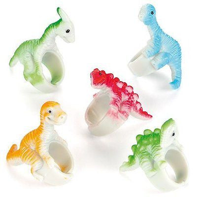 Dinosaur Rings for Children to Wear Perfect Party Bag stuffer & Small Gift Idea