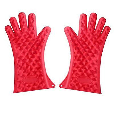 Extra-Long 13.5-Inch Silicone Cooking Gloves Are Ideal For Barbeque Grill