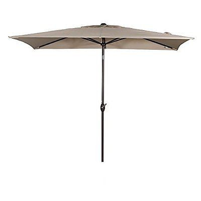 Abba Patio 6.6 by 9.8-Feet Rectangular Market Outdoor Table Patio Umbrella