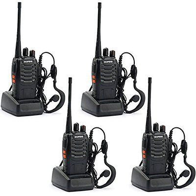 BAOFENG BF-888S Walkie Talkie with Built in LED Torch (Pack of 4)