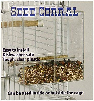 Creative Foraging Systems+E487 Seed Corral No Mess Pet Feeder