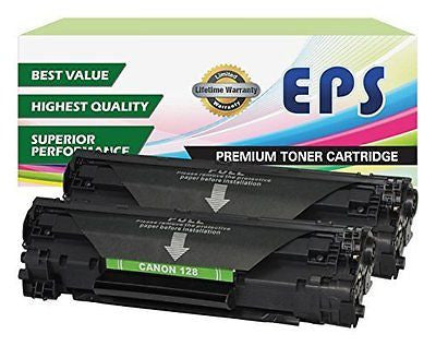 2 Pack EPS Replacement Canon 128 Black toner Cartridges