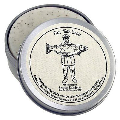 Fish Tale Soap-100% Natural & Handmade, in Reusable Travel Gift Tin