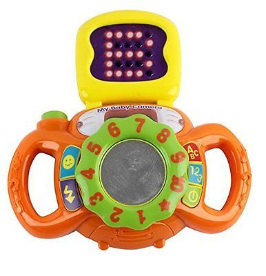 Memtes? Baby Learning Camera Toy with Display Lights and Sound, ABC and Numbers