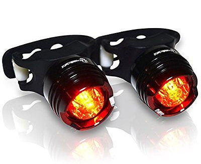 Stupidbright SBR1 Rear High Intensity LED Bicycle Tail Light (2 Pack)