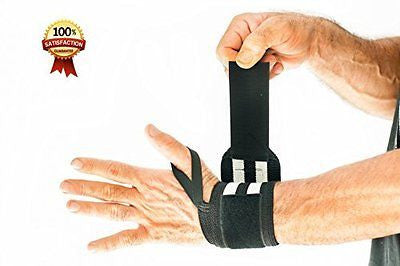 Weightlifting Wrist Wraps + FREE Straps. Eagle ProFitness No.1 Best Selling