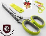 Kitchen Herb Scissors Shears Professional Heavy Duty  5 Blade Stainless Steel