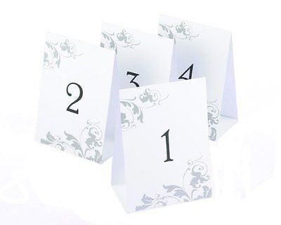 Hortense B. Hewitt Wedding Accessories Tent Style Table Numbers 1 Through 40