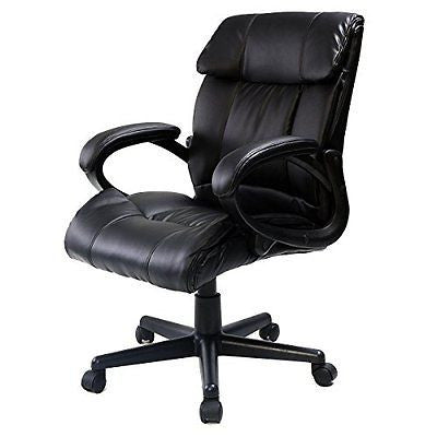 Giantex Pu Leather High Back Executive Computer Desk Task Office Chair Black