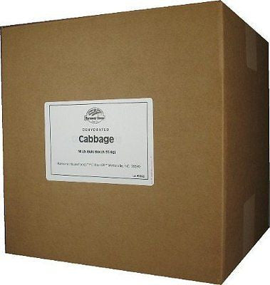 Dehydrated Cabbage (26 lb. Bulk Box) - For Cooking, Camping, Hiking