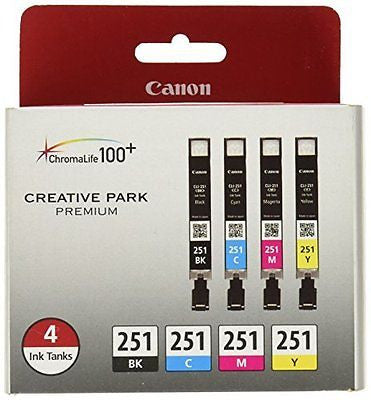 Canon CLI-251 Creative Park Premium Ink Cartridges Black, Cyan, Magenta, Yellow