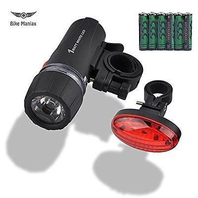 Bicycle Headlight Taillight Combo - Front Headlight - Free Tail light